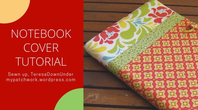 Notebook Cover Pattern ~ Notebook cover tutorial sewn up