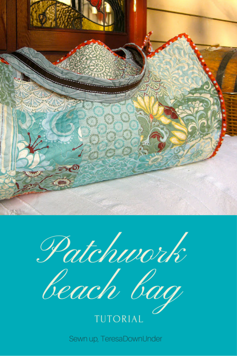 Patchwork beach bag tutorial