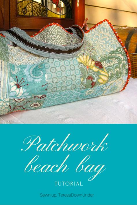 Patchwork beach bag tutorial