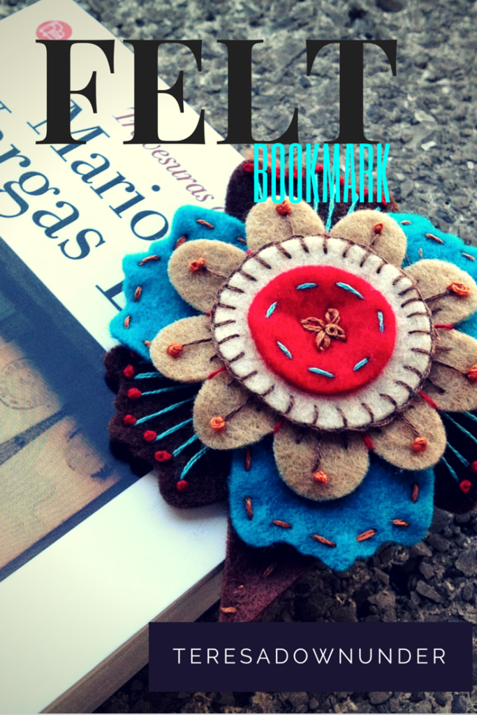 Felt flower bookmark easy handmade gift