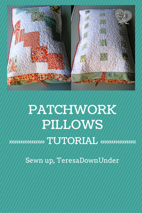 Patchwork pillowcase tutorial - charm square sewing - easy project