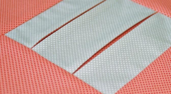 Block 17: Pleated peek a boo – Textured quilt sampler