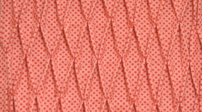 Block 16: Smocked tucks – Textured quilt sampler