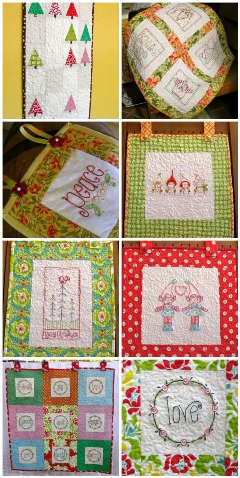Christmas wall hangings sewn up