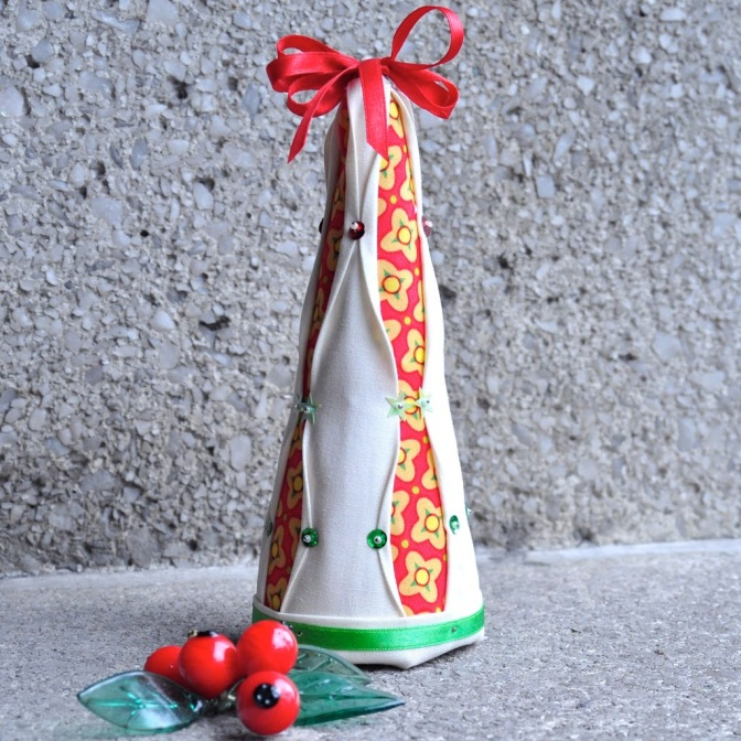 No-sew Christmas tree ornament
