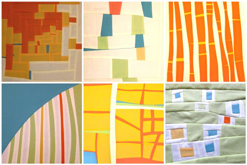 free form quilt piecing  Putting the improv / free form quilt blocks together | Sewn Up
