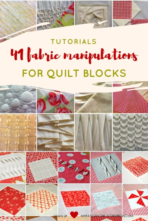 Tutorials: 41 fabric manipulations for quilt blocks