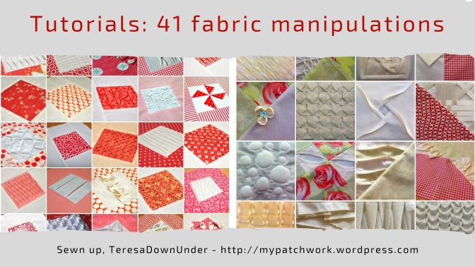 41 fabric manipulations for quilts - free tutorials