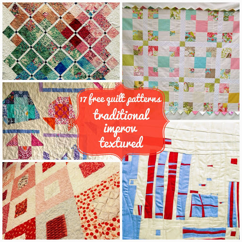 Make a quilt: 17 free tutorials of my quilts