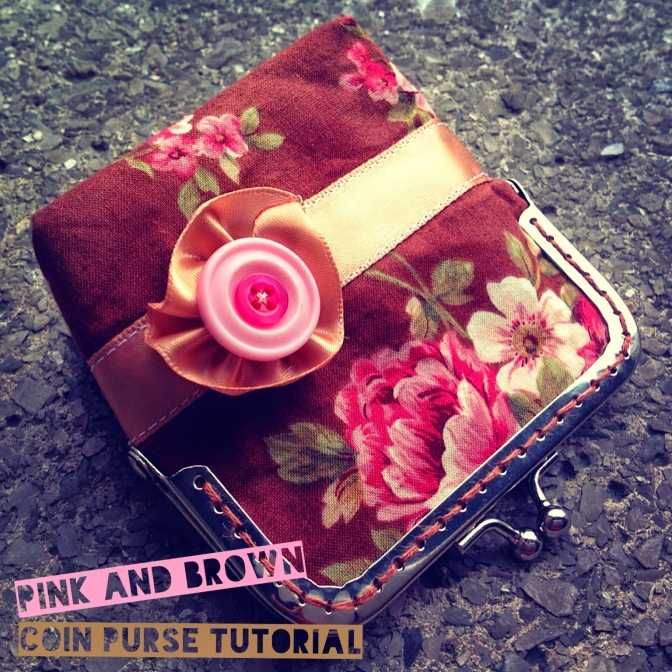 Pink and brown coin purse tutorial
