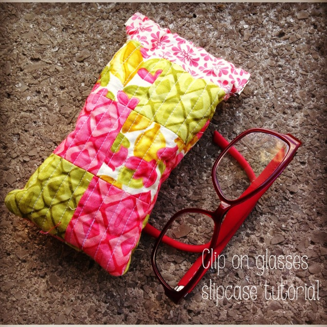 Clip on glasses case tutorial