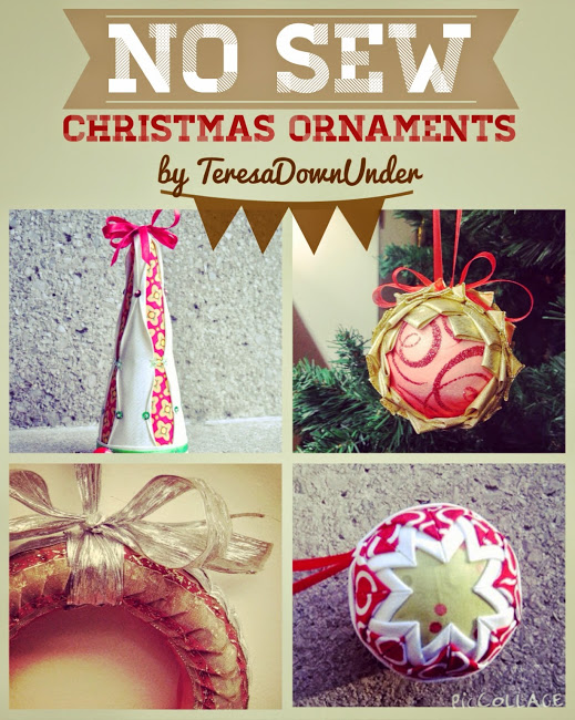 No sew Christmas ornaments using styrofoam