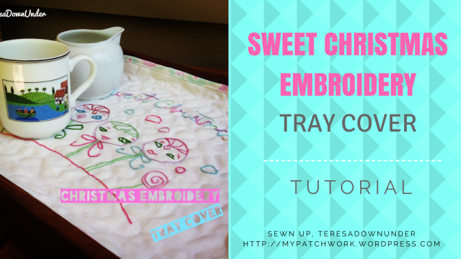 Sweet Christmas embroidery tray cover