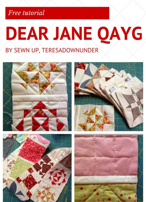 Free tutorial- Dear Jane Quilt as you go (QAYG)