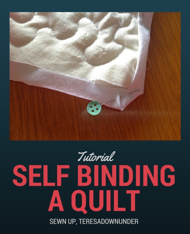 Self binding a quilt tutorial. Self binding is making the binding with the back of the quilt