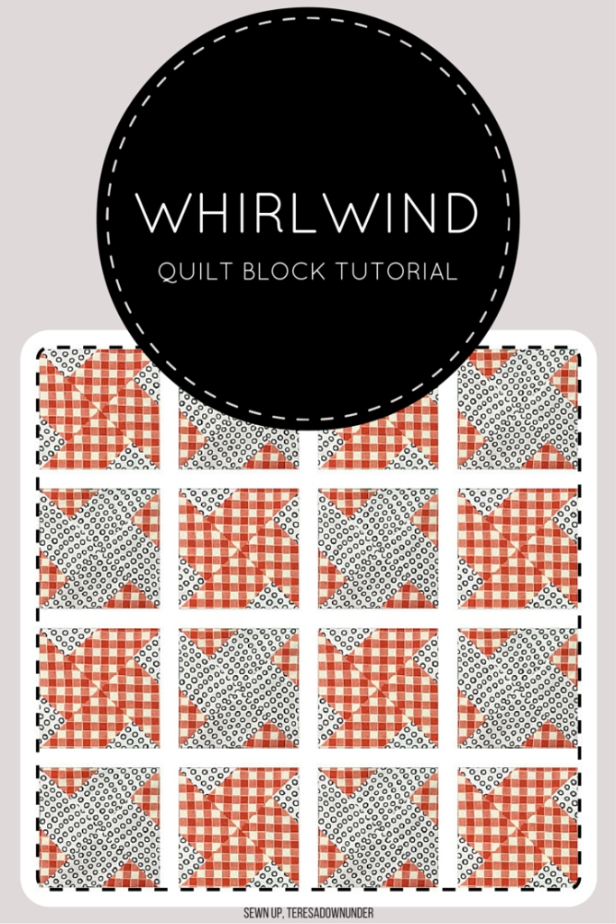 Quick and easy whirlwind quilt block - video tutorial