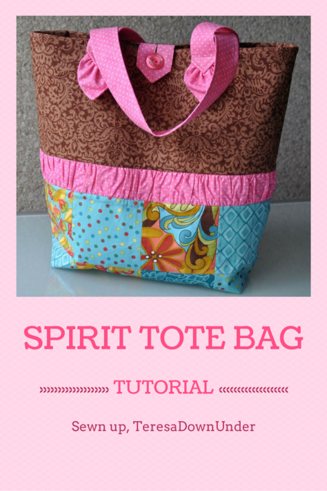 Spirit tote bag tutorial