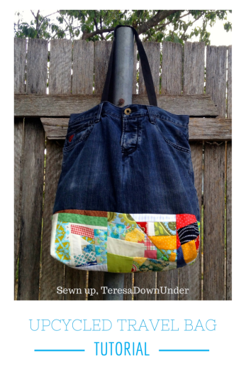 Upcycled travel bag tutorial