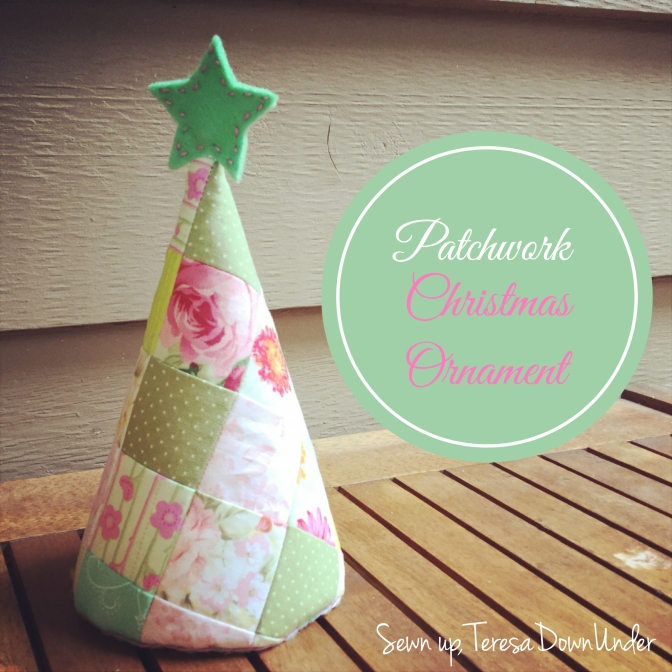 Patchwork Christmas tree ornament tutorial