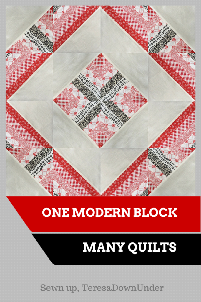 One modern block, many quilts