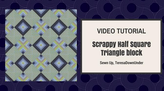 Video tutorial: Half and Half Square Triangle block