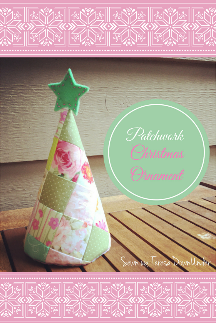 patchwork christmas tree decorations to make