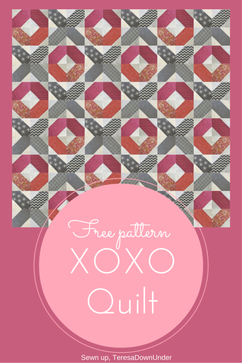 XOXO quilt- free pattern