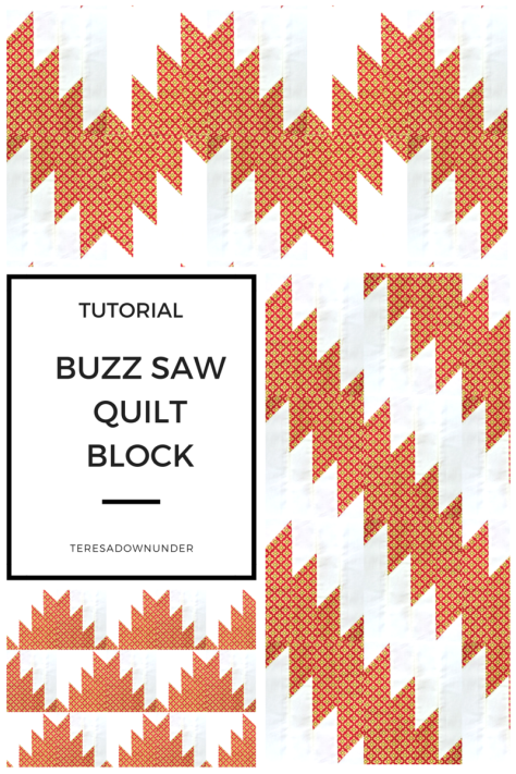 Buzzsaw quilt block - video tutorial
