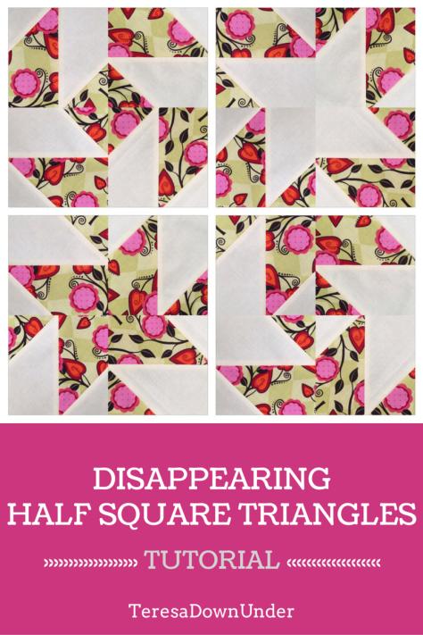 how to make quarter square triangles video