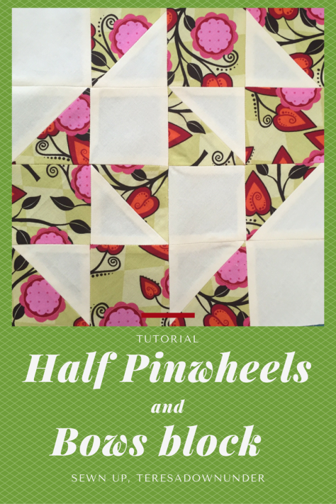 Half pinwheels and blows block