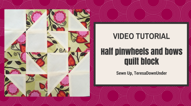 s and bows quilt block tutorial