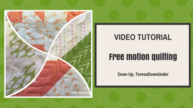 Video tutorial- free motion quilting