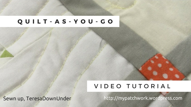 Video tutorial: Quilt as you go (QAYG) with narrow sashing