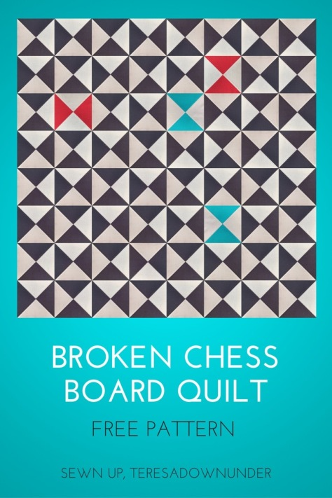Free pattern - Broken chess board quilt