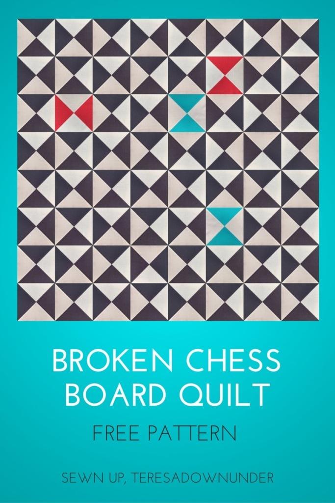 Free pattern - Broken chess board quilt