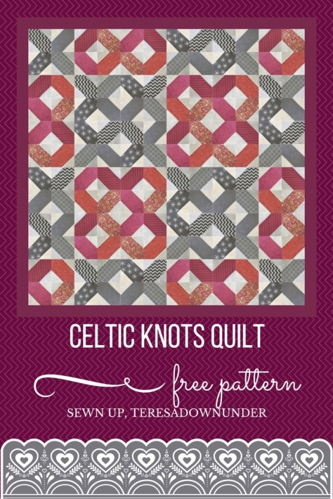 Celtic knot quilt free tutorial