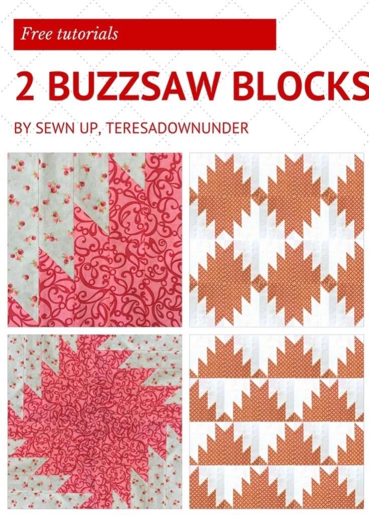 2 buzzsaw quilt blocks - free video tutorials