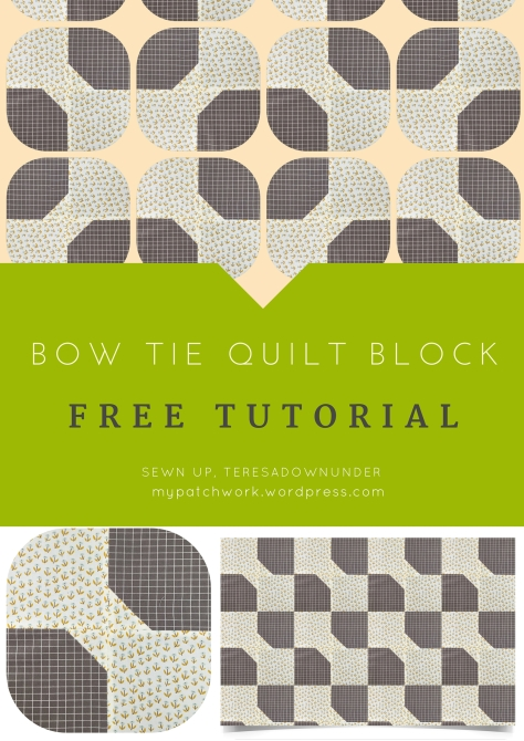 Quick and easy bow tie quilt block video tutorial | Sewn Up : easy bow tie quilt block pattern - Adamdwight.com