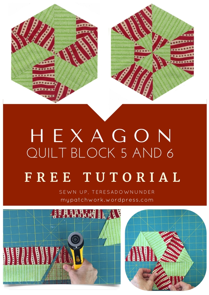 Video tutorial: Hexagon quilt block 5 and 6