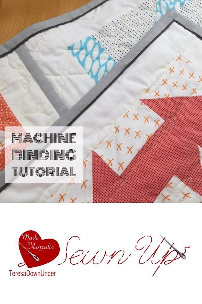 Video tutorial: machine quilt binding