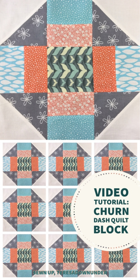 Video tutorial: Churn dash quilt block