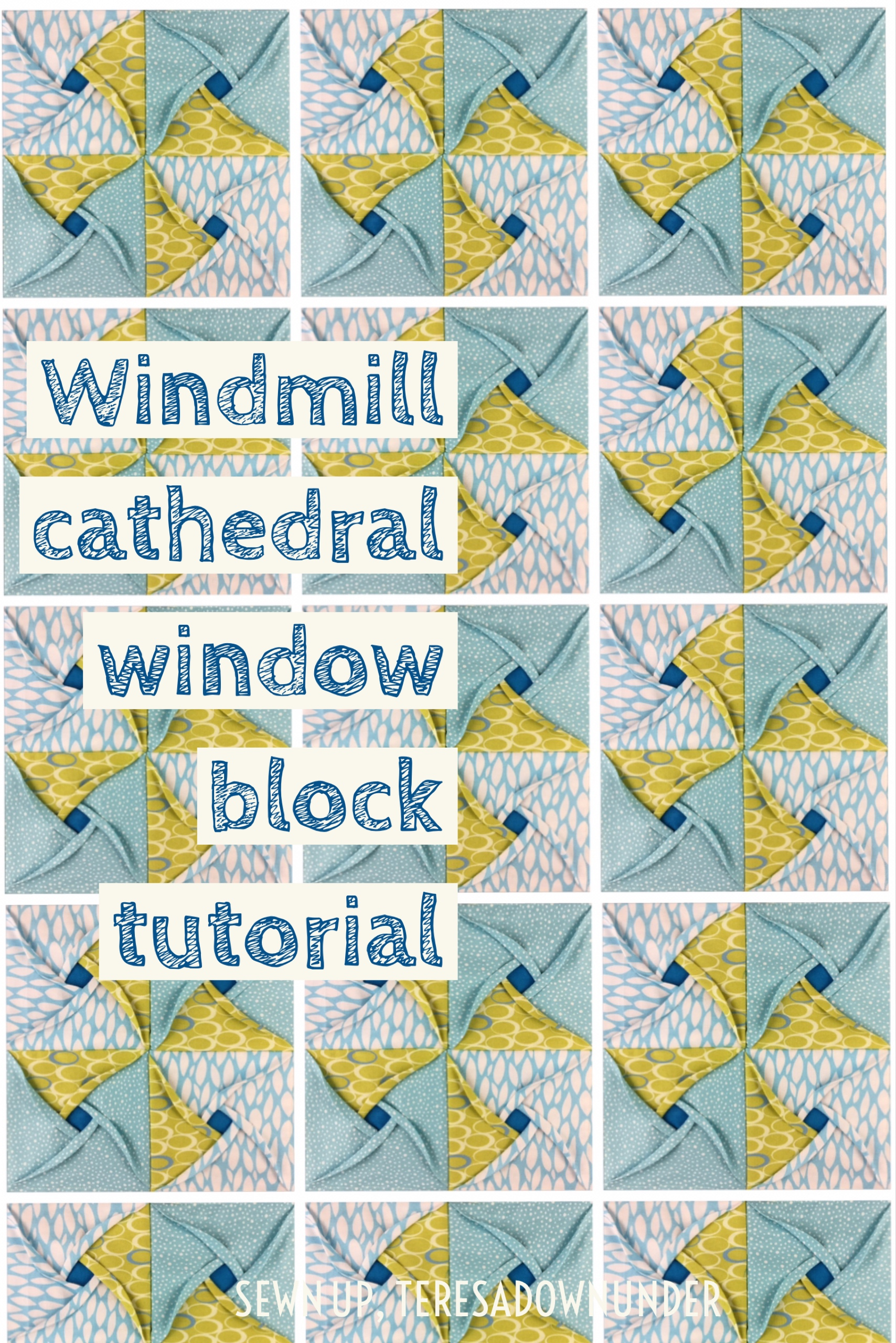 Video tutorial: Windmill cathedral window – quilt block | Sewn Up : pattern for cathedral window quilt - Adamdwight.com