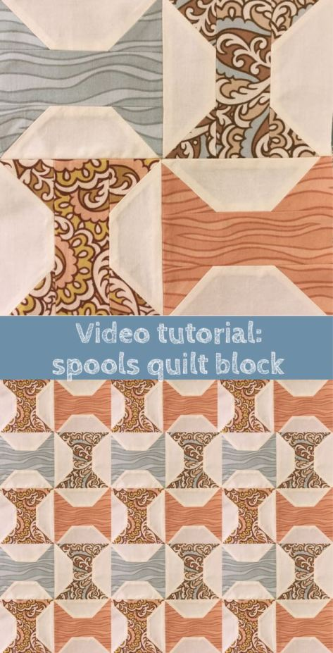 Learn in under 2 minutes how to make this very quick and easy spools quilt block