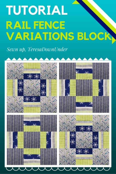 Video tutorial: Rail fence variations block