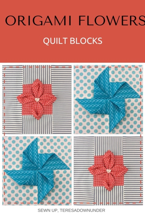 Video tutorial: Origami flowers quilt blocks - quick and easy tutorials