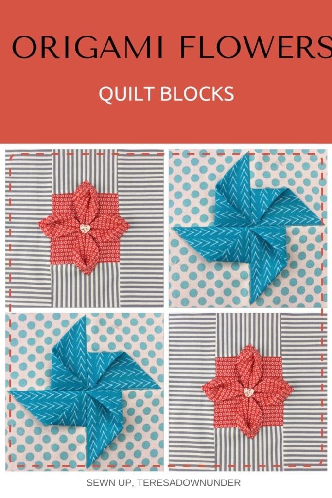 Video tutorial: Origami flowers quilt blocks - quick and easy tutorials