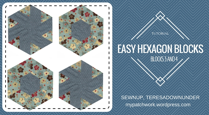 Video tutorial: hexagon quilt blocks 3 and 4 – quick and easy quilting