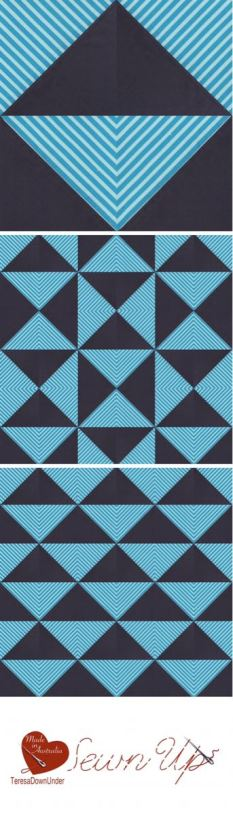 Video tutorial: playing with stripes and half square triangles