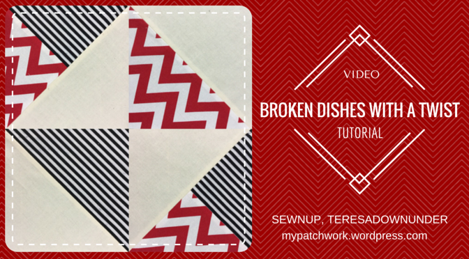 Video tutorial: broken dishes block with a twist