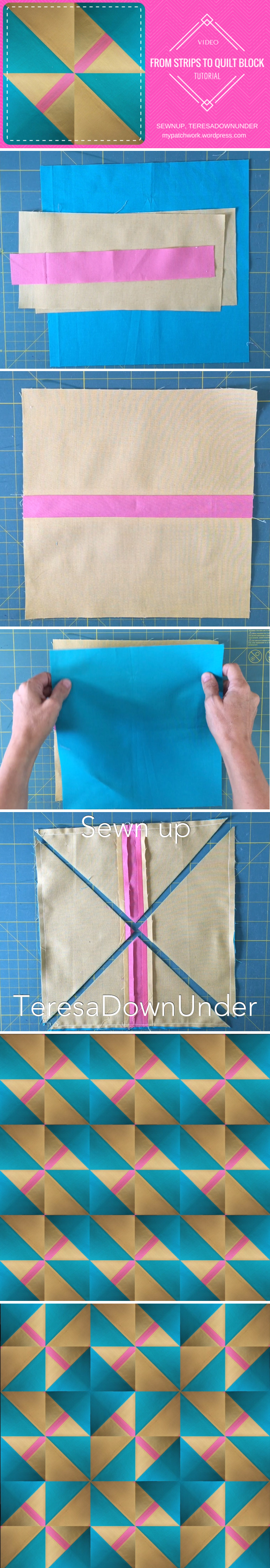 Video tutorial: from strips to quilt block